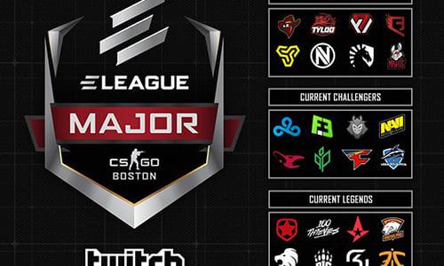CS:GOメジャー大会『ELEAGUE Major: Boston』の開催フォーマット変更、全24チームのゲーム内ステッカーアイテムを販売