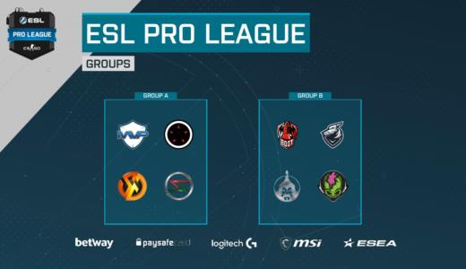 日本SZ.Absoluteは初戦でMVP PKと対戦、CS:GO『ESL Pro League Season 7 Asia-Pacific』のグループステージ組み合わせ決定