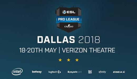 CS:GO『ESL Pro League Season 7』アメリカ・ヨーロッパ部門のファイナル進出チームが決定