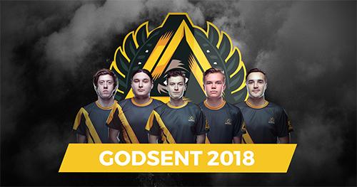 『GODSENT』が2018年シーズンのCS:GOラインナップを発表