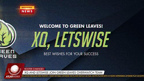 日本最強のアマチュアOverwatchチーム『Green Leaves』にXQ、letswiseが加入、abara、Nonkeが脱退