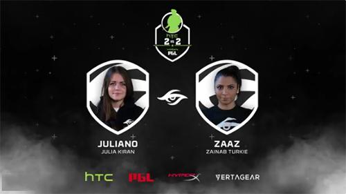CS:GO最強タッグ決定戦『HTC 2v2 Invitational by PGL』2チーム目は最強女子コンビ「juliano」「zAAz」に