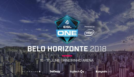 賞金総額20万ドルのCS:GO大会『ESL One Belo Horizonte 2018』が2018年6月にブラジルで開催