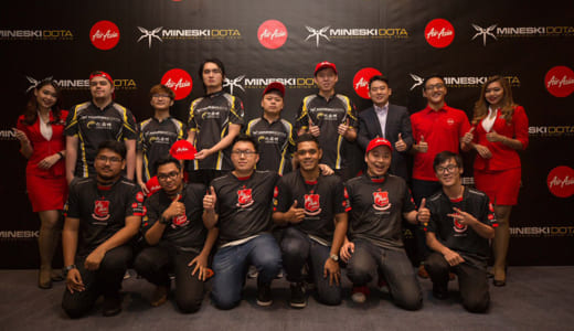 航空会社『AirAsia』とプロチーム『Mineski』がスポンサー契約を締結