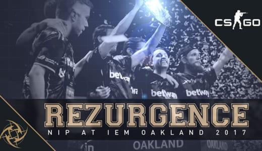 ムービー『REZURGENCE – NiP at IEM Oakland 2017』