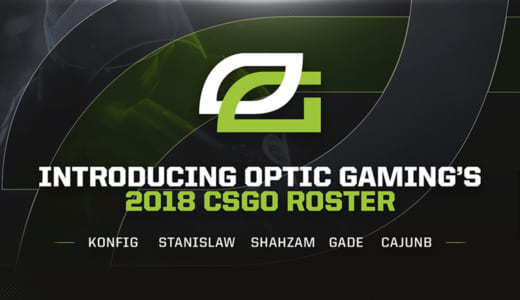 『OpTic Gaming』が2018年シーズンのCS:GOラインナップを発表、5人全員が新たな選手に