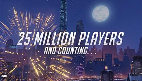 FPS『Overwatch』の全世界プレーヤー数が2,500万人を突破