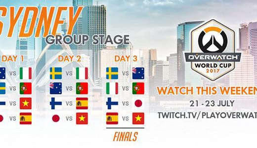 『Overwatch World Cup 2017』日本代表チーム出場のグループDが7/21(金)よりオーストラリアで開催