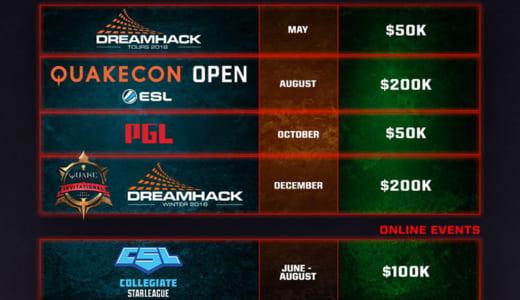 id Softwareが『Quake Champions』の2018年eスポーツカレンダーを公開