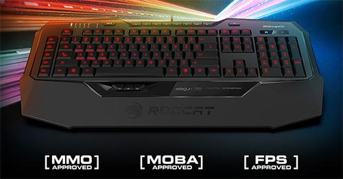 圧力感知型キーを搭載したゲーミングキーボード『ROCCAT Isku+ Force FX』登場