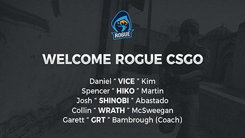 『Rogue』CS:GO部門に元Team LiquidのHikoやEnigma6 Groupのメンバーが加入
