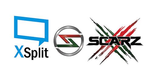 プロゲームチーム『SCARZ』がゲームのライブ配信ソフト『XSplit』とスポンサー契約を締結