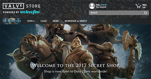 Valve StoreにDota 2の新公式グッズを取り扱う『The International 2017 Secret Shop』がオープン