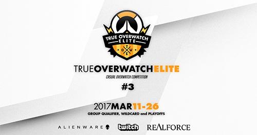 コミュニティ主催オンライン大会『True Overwatch Elite #3』が3/11(土)~26(日)に開催