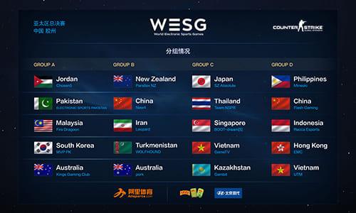 日本SZ.Absoluteは強豪Gambitと同グループに、世界大会『WESG 2017』CS:GO部門アジアパシフィック予選のグループ組み合わせ決定