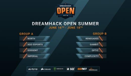 賞金総額10万ドルのCS:GO大会『DreamHack Open Summer 2018』が本日6/16(土)よりスタート