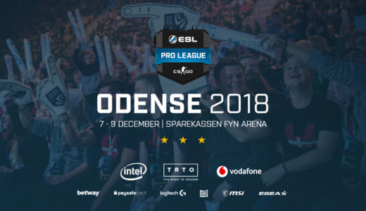 CS:GO『ESL Pro League Season 8 Finals』が2018年12月にデンマークで開催、アジアパシフィックの出場枠は2つ