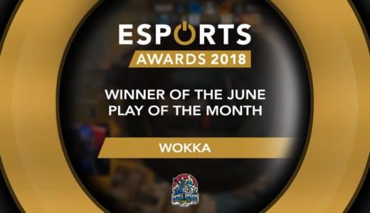 世界のeスポーツ月間MVP『Esports Awards Play of the Month』を『野良連合』R6S部門Wokka選手が獲得