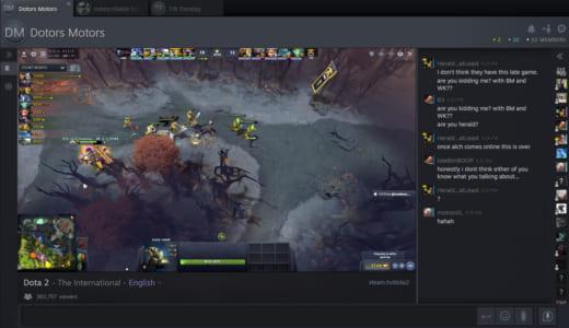 『Steam』の新たなゲームプレー動画配信サービス『Steam TV』がスタート、Dota 2世界大会『The International 2018』を中継