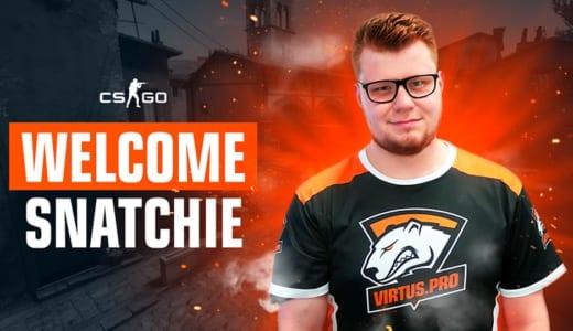 『Virtus.pro』CS:GOチームに『AGO Esports』のsnatchieが移籍加入