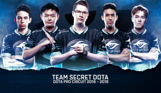 Team Secret Dota 2 2018-2019シーズンメンバーとしてzai、Nishaが加入