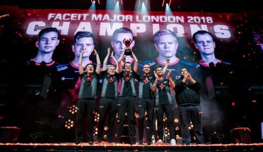 『FACEIT Major: London 2018』でAstralisが2度目のメジャー大会優勝を達成