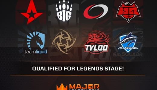 『FACEIT Major: London 2018』「The New Legends Stage」に出場する全16チームが決定、9月12日(水)18時より試合開始