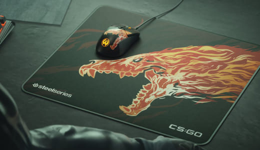 SteelSeriesがゲーミングマウス『RIVAL 310 CS:GO HOWL EDITION』とマウスパッド『QCK+ LIMITED CS:GO HOWL EDITION』を発表
