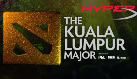 『HyperX』がDota 2メジャー大会『Kuala Lumpur Major』の公式デバイススポンサーに