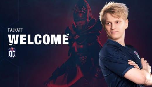 『Dota 2』2018年世界大会王者『OG』の新Carryとして元OpTic GamingのPajkatt選手が加入