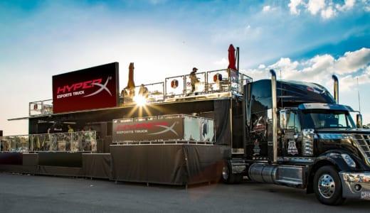 『HyperX』が移動型のesportsアリーナを展開可能な大型車輌「HyperX Esports Truck」をCES2019でお披露目