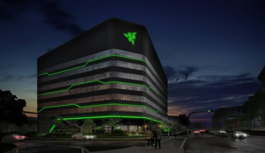RGBライティングでお馴染みの『Razer』、新社屋も発光仕様