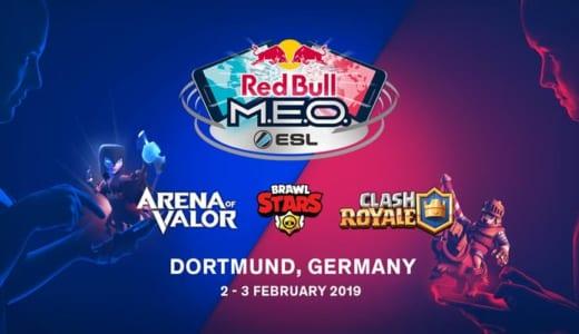 モバイルeスポーツ世界大会『Red Bull M.E.O. by ESL World Finals』が2019年2月2日(土)、3日(日)に開催、タイトルは「クラロワ」「ブロスタ」「AoV」
