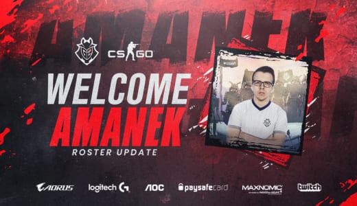 『G2 Esports』がCS:GO部門のメンバー変更、「bodyy」に代えて元Team LDLCの「AMANEK」を起用