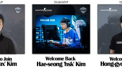 『Team MVP』CS:GO部門に元「GOSU」の「stax」「HSK」「Jinx」が加入