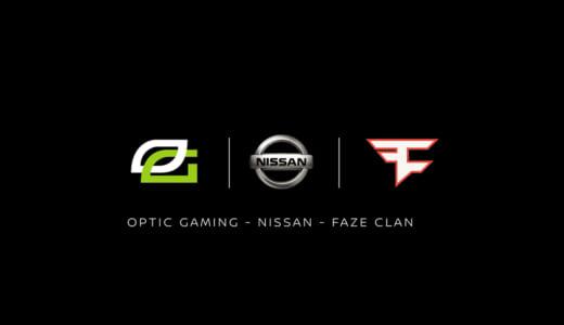 『Nissan』(日産自動車)が世界トップクラスのプロゲームチーム『FaZe Clan』『OpTic Gaming』とパートナー契約を締結