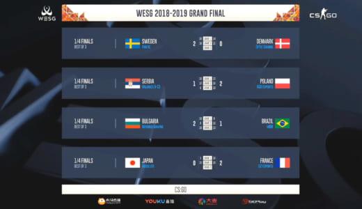 日本『Absolute』、『G2 Esports』に敗北し国際大会『WESG2018-2019』CS:GO部門ベスト8に