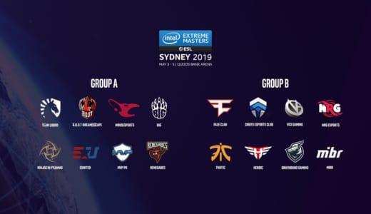 CS:GO『IEM Sydney 2019』のグループステージ組み合わせが決定