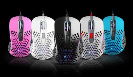 『Xtrfy』がハニカム構造採用、RGBライティング対応、65グラムの右利きデザイン軽量ゲーミングマウス『PROJECT 4』を発表