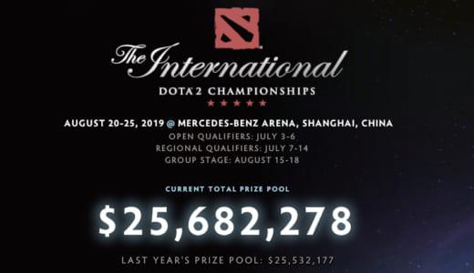 歴代最高額を更新、『Dota 2』公式世界大会の賞金総額が「約27.7億円(2568万ドル)」を突破