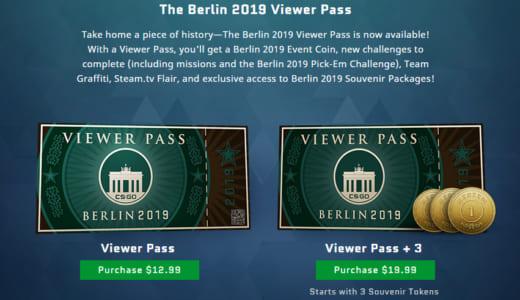 CS:GOメジャー大会をさらに楽しめる『The Berlin 2019 Viewer Pass』や選手・チームステッカーといったゲーム内アイテム発表