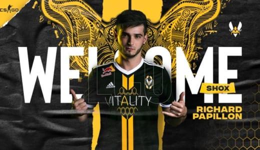 『Team Vitality』CS:GO部門に「shox」が加入