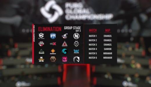 世界大会『PUBG Global Championship 2019』グループステージ終了、Rascal Jester、SunSister、DeToNatorは11/11(月)10時からの敗者復活戦へ
