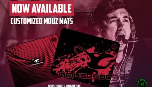 プロチーム「mousesports」モデルのゲーミングマウスパッドが『Razer Store』にてアメリカ向けに販売開始