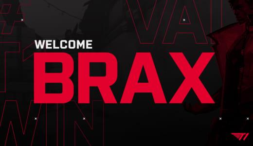 eスポーツチーム『T1』、『VALORANT』転向を表明した『CS:GO』プレーヤー・Brax(swag)選手の獲得を発表