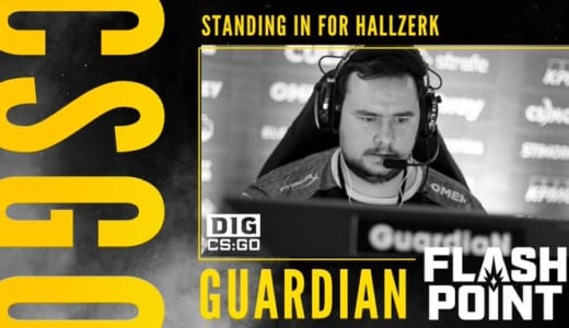 Dignitas、CS:GO大会『Flashpoint』でGuardiaN選手をレンタルで起用、hallzerk選手はビザ発行まで出場見合わせ