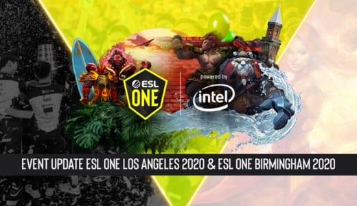 開催延期となっていたDota 2オフライン大会『ESL One Los Angeles 2020』と『ESL One Birmingham 2020』、新型コロナウイルス対策としてオンライン実施に変更
