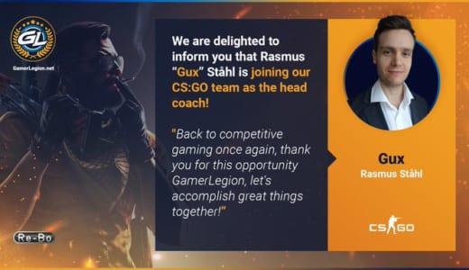元Fnatic CS1.6部門メンバー「Gux」氏が『GamerLegion』のヘッドコーチに就任