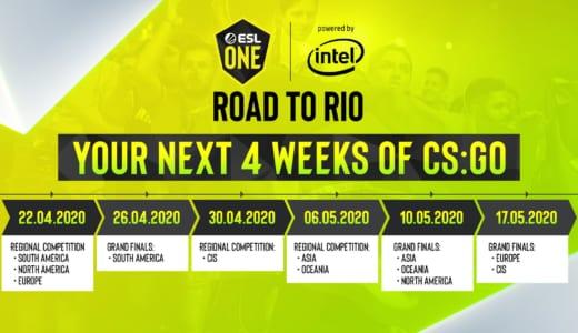 CS:GOメジャー大会『ESL One Rio 2020』予選が4/22(水)22時より開幕、世界6エリアから56チームが出場