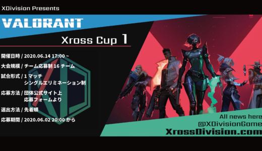コミュニティ大会『VALORANT Xross Cup 1』、6月14日(日)に開催